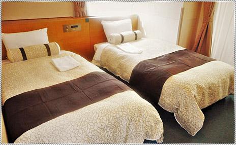 Point 3 全室ロング&ワイドベッド
