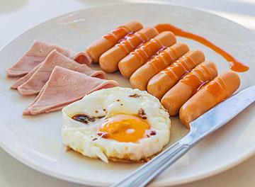 健康朝食 メニューの一例