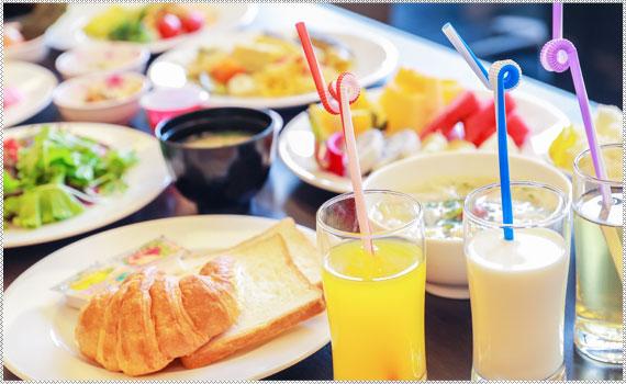 Point 2 35種類の朝食バイキング