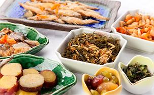 和食を中心とした無料の朝食バイキング
